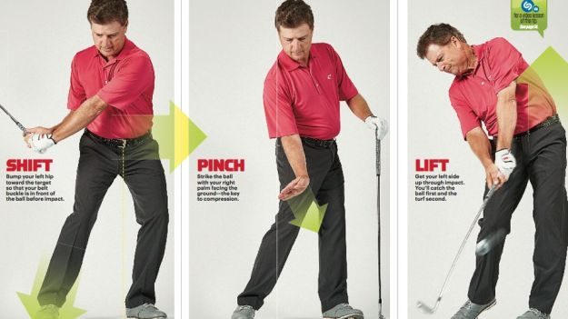 How to perform a ball compressing shot by a wedge