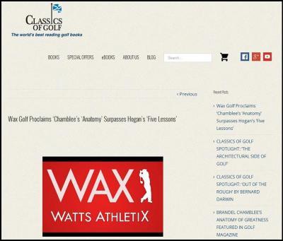 wax golf feature